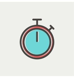 Stop watch thin line icon vector image