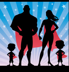 Superhero family boys vector