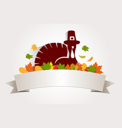 thanksgiving day template vector image
