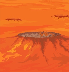 The craters of venus vector