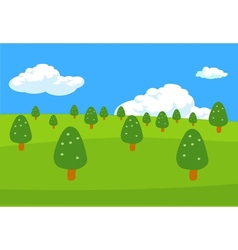 Trees lanscape background vector