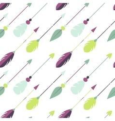 Tribal arrow seamless pattern vector image