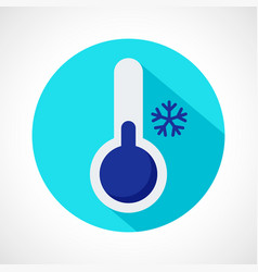 weather cold icon vector image