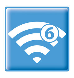 wi-fi 6g-01 vector image