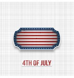 American national flag colors in patriotic banner vector
