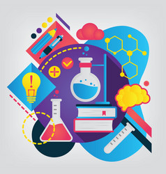 back to school concept chemistry vector image
