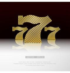 Casino 777 background vector image