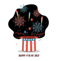 Isolated cartoon celebration of america independen vector image