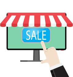 Make online purchases vector image vector image