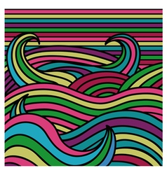 abstract color wave background vector image vector image