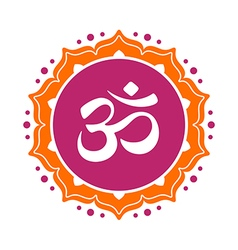 Om graphic vector image vector image