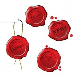 sale wax stamp set vector image