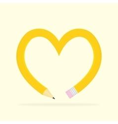 Pencil heart vector image