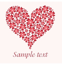 Red valentine heart in floral style vector image vector image