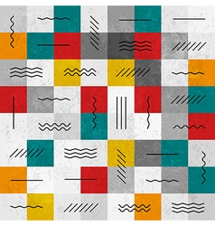 seamless pattern geometric lines vector image vector image