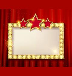 frame cinema stars vector image