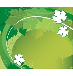 grape leaves vector image vector image