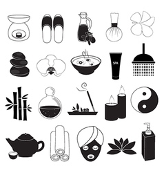 Spa and Aroma Icons Set vector image vector image