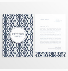stylish letterhead design with abstract pattern vector image