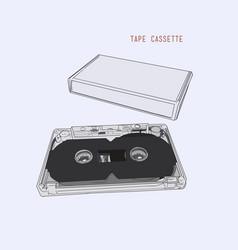 vintage audio tape cassette vector image