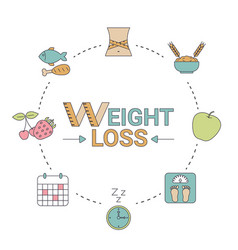 weight loss concept weight loss concept vector image vector image