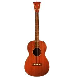 A brown guitar vector image