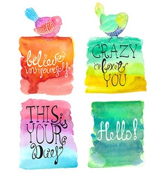 Abstract stylish watercolor background collection vector