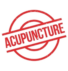 Acupuncture rubber stamp vector