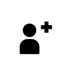 Add contact icon vector