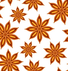 Anise seamless background vector