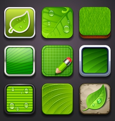 background for app icons-eco part vector image