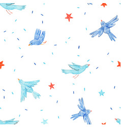 Beautiful seamless pattern with cute hand vector