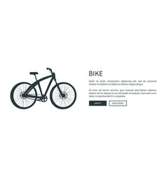 bike silhouette web page vector image
