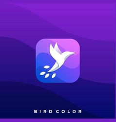 bird icon design template vector image