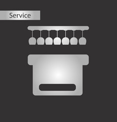 black and white style pub bar vector image