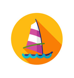 Board windsurfing icon summer vacation vector