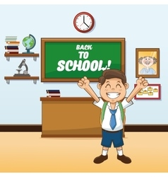 Boy cartoon of back to school design vector