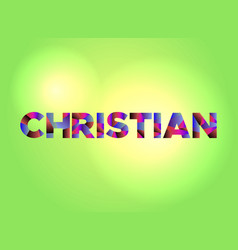 Christian concept colorful word art vector