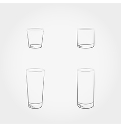 Classic glassfuls set vector image