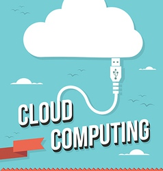 Cloud computing concept vector image