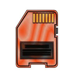 Color blurred stripe modern memory card vector