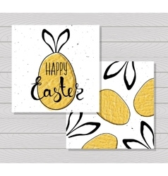 Colorful printable card for Easter with Easter vector