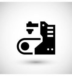 Conveyor equipment icon vector