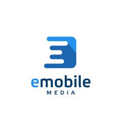 creative letter e logo vector image