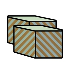 Cube baby toy vector