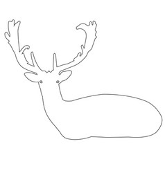 deer outline icon vector image
