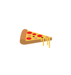 delicious pizza slice logo vector image