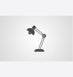 desk lamp icon sign symbol vector image