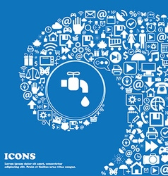 Faucet icon sign Nice set of beautiful icons vector