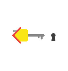 flat design concept of house key with keyhole vector image